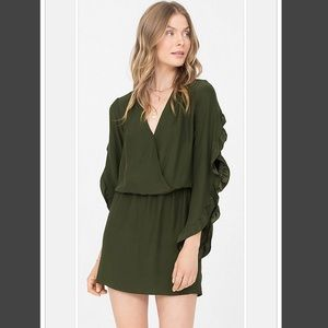 NWT Amanda Uprichard Reverie Ruffle Sleeve Dress